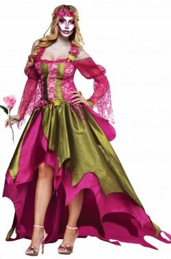 Costume Novia Rosa Dia de Los Muertos