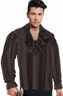 Camicia da pirata nera cavaliere 700 corsaro nero
