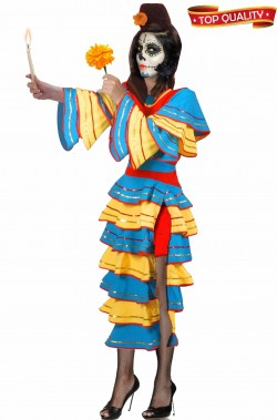 Costume da Sposa Novia De Colores Dia de Los Muertos