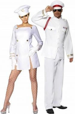 Coppia di costumi Capitano e Capitana Love Boat