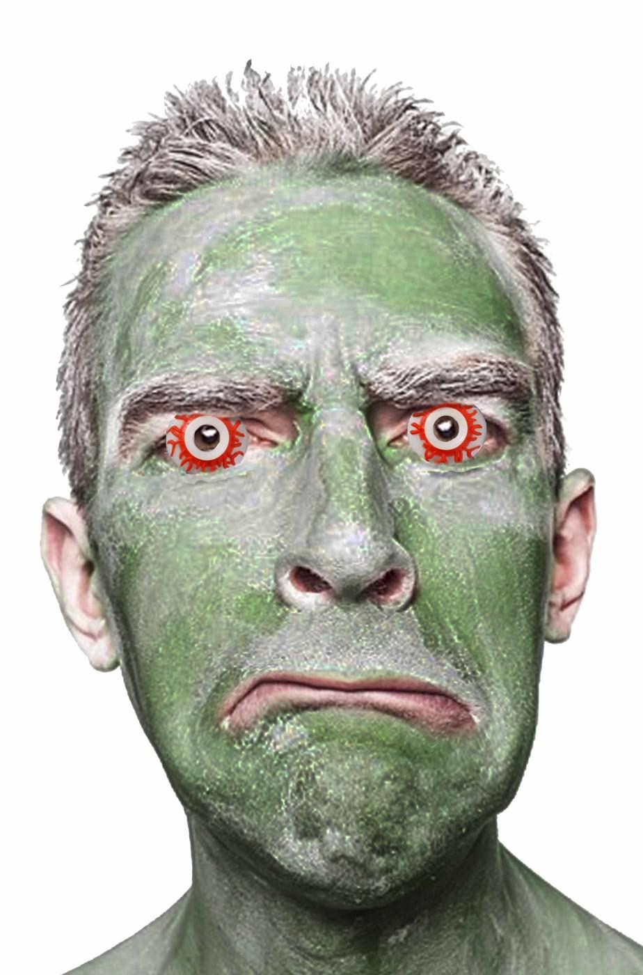 Occhi da zombie iniettati di sangue di plastica per adulti