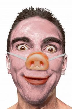 naso da maiale porcello con elastico piggy