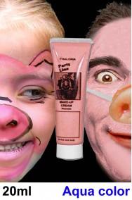 Trucco teatrale Kryolan tubetto aqua color 20ml rosa