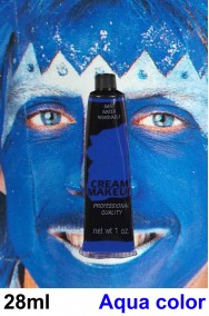 Trucco blu tubetto aqua color 28g