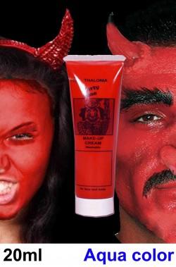 Trucco teatrale Kryolan tubetto aqua color 20ml rosso