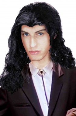 Parrucca nera lunga Vincent Vega