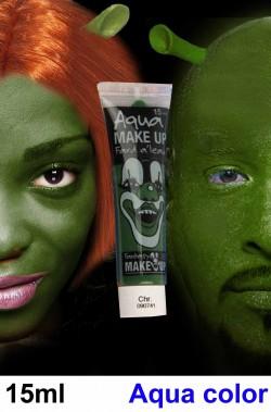 Trucco teatrale tubetto aqua color 15ml verde