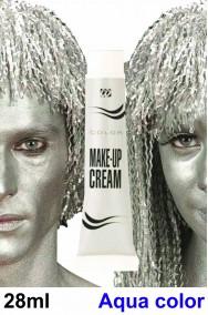 Trucco da viso o corpo argento tubetto aqua color 28g