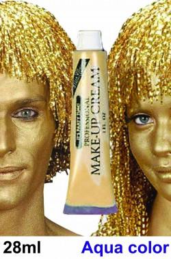 Trucco teatrale oro viso corpo carnevale
