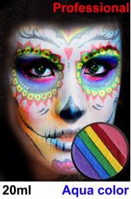Trucco teatrale palette acqua color arcobaleno 20ml
