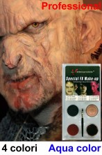 Trucco Halloween teatrale orco troll palette 4 colori