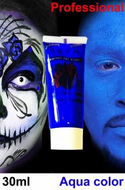 Trucco teatrale tubetto aqua 30 ml blu