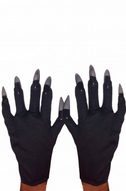 Guanti catwoman con unghie argento