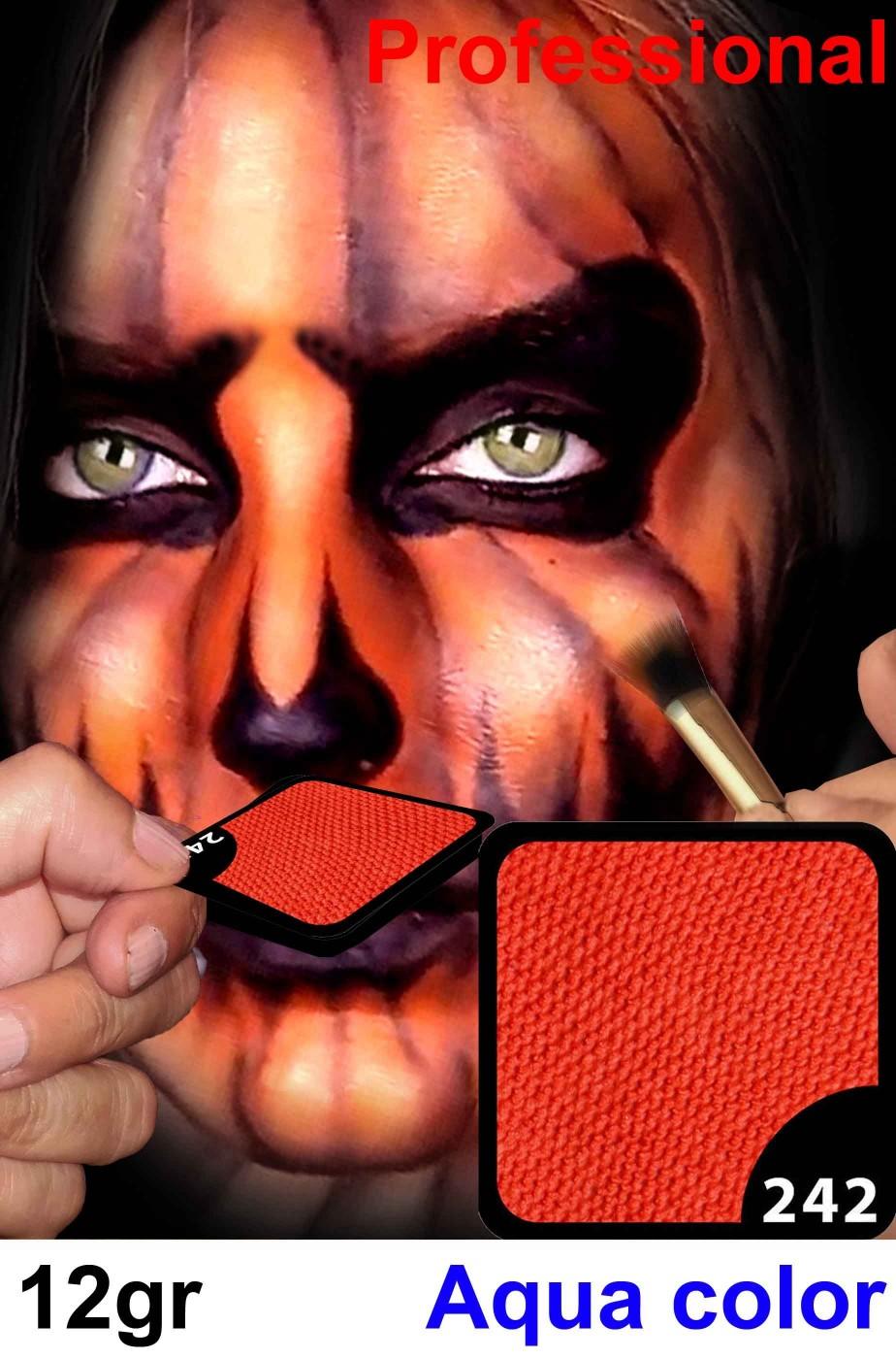 Trucco da viso e corpo arancione zenzero professionale