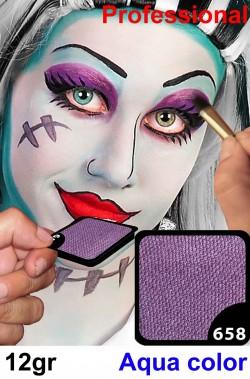 Trucco da viso e corpo viola lilla perlato professionale
