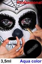 Trucco Teatrale cialda acqua color 3,5 ml nero perlato