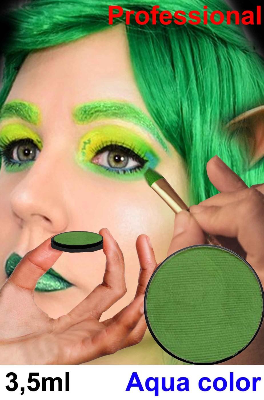 Trucco verde viso corpo professionale cialda piccola economica