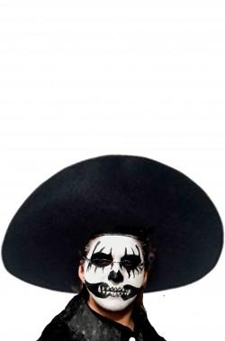 Cappello Sombrero Messicano nero grande dia de los muertos