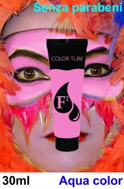 Trucco teatrale tubetto aqua color Fardel 30 ml rosa