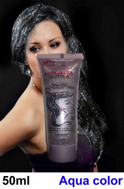 Brillantini per capelli in gel liquido color argento
