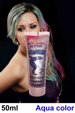 Brillantini per capelli in gel liquido color arcobaleno