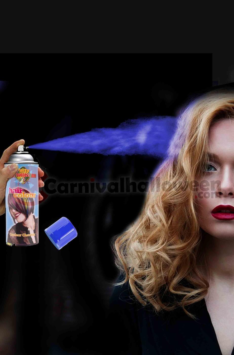 Colore per capelli spray lacca colore blu