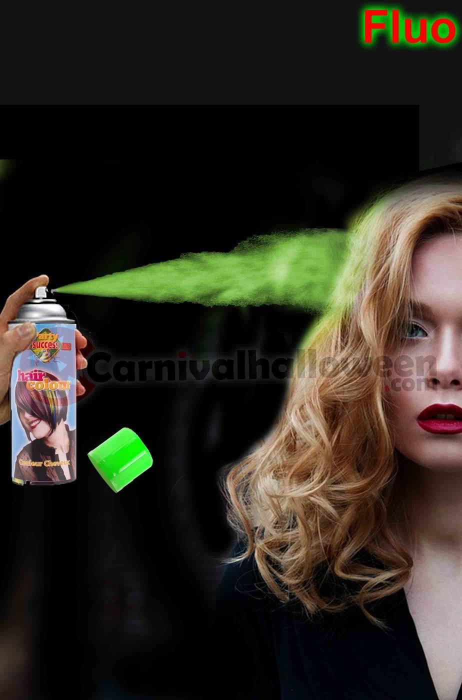 Colore per capelli spray lacca colore verde fluo