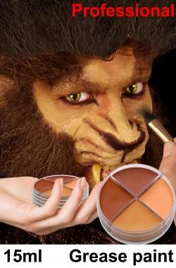 Trucco teatrale palette in cialda 4 colori lupo elfo fauno leprecauno