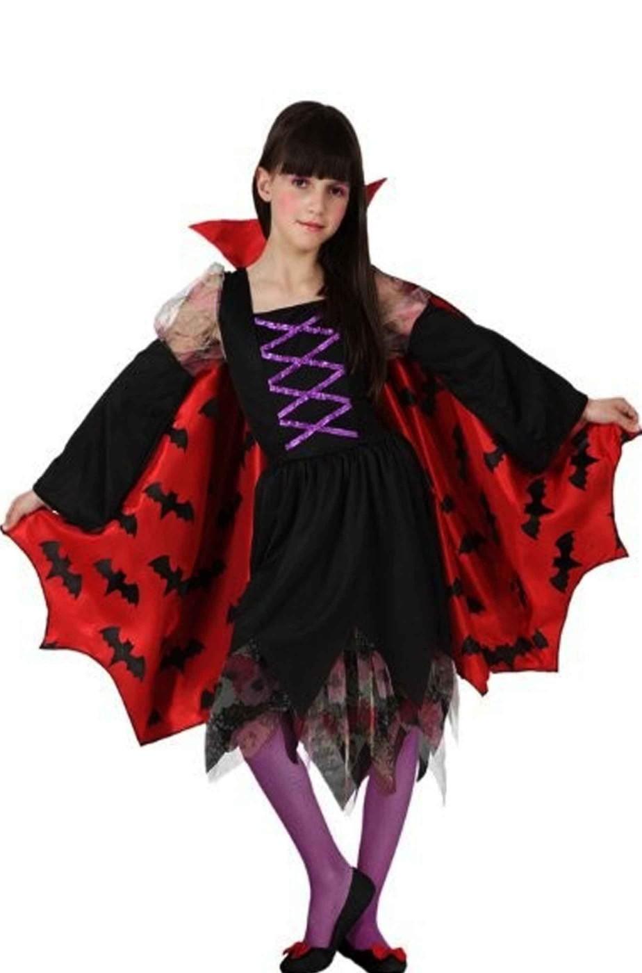 Costume Halloween Vampirella Pipistrella bambina