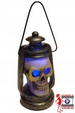 Decorazione luminosa Halloween lanterna con teschio lampeggiante