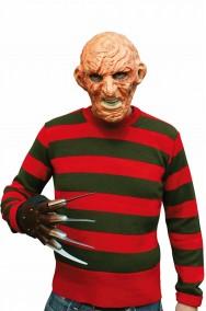 Maglia Freddy Krueger a strisce verdi e rosse orizzontali