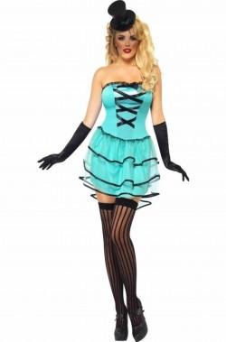 Costume donna Cabaret Burlesque bambola Moulin Rouge