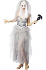 Costume Halloween da donna la sposa cadavere o spettro