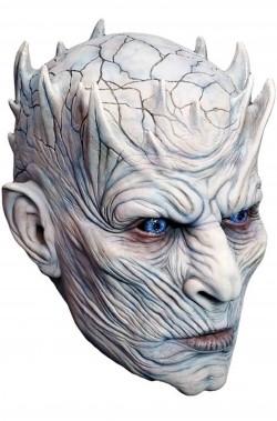 Maschera Re della Notte del Trono di Spade dei non morti in latex tutta testa