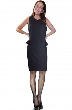 Vestito nero stile anni 20 o 30 chicago Grande Gatsby nero con boa e piume