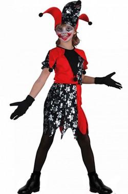 Costume bambina Joker Giullare Jester Harley Quinn