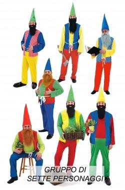 I sette nani gruppo di 7 costumi di carnevale