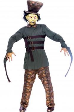 Costume Halloween da uomo cappellaio matto zombie