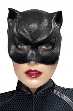 Maschera da Catwoman nera donna di di gomma di lattice bellissima