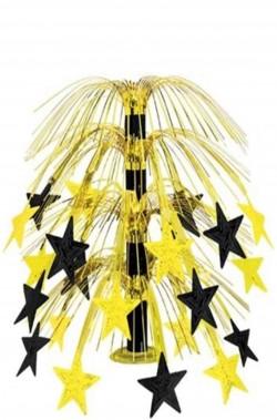 Centrotavola a fontana dorata con stelle Hollywood Party