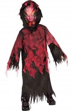 Costume di Halloween da bambino diavolo dell'inferno