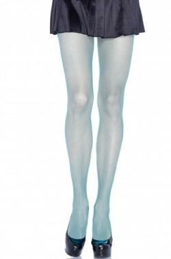 Calze da donna azzurre a rete a vita bassa