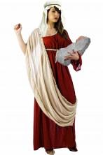 Costume di Maria la Madre di Gesu' per Presepe Vivente e Passione di Cristo