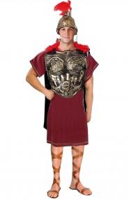 Costume antico romano completo con armatura color bronzo