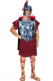 Costume antico romano completo con armatura color ferro