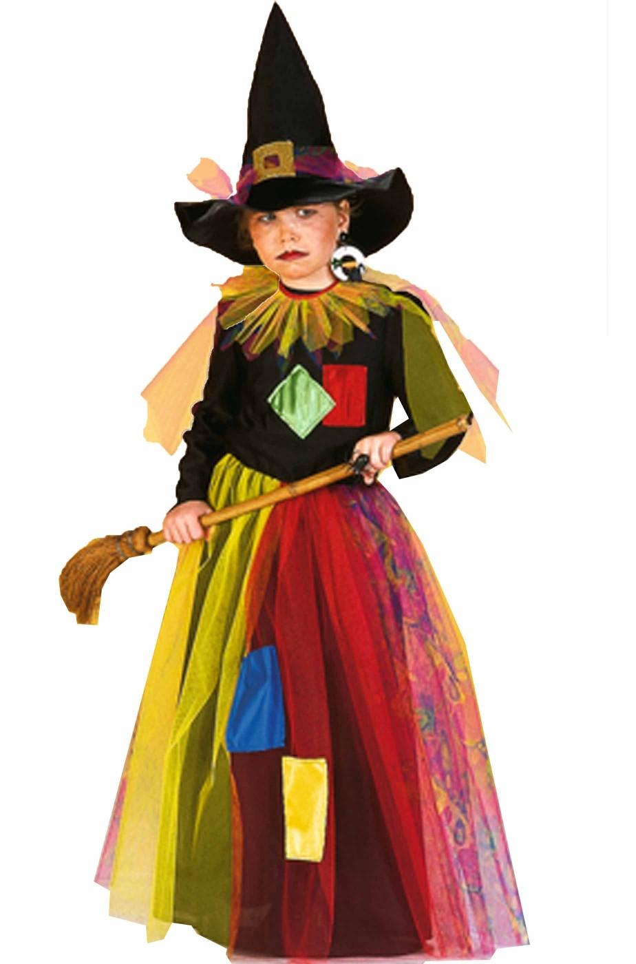 Costume bambina da Strega fattucchiera del bosco incantato