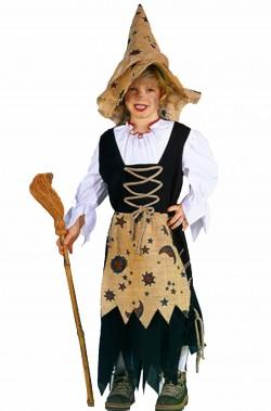 Costume da befana o strega tradizionale da bambina
