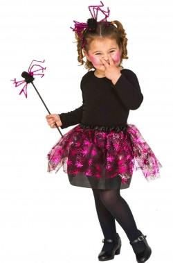 Set per costume Halloween bambina economico ragno
