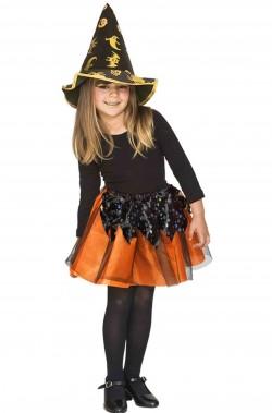 Set costume halloween bambina economico da strega