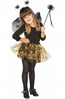 Set per costume Halloween economico bambina fata dei ragni